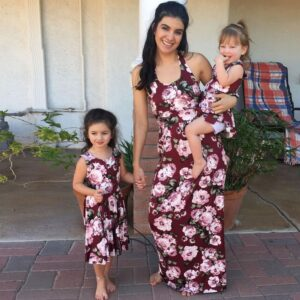 Family Look Outfits Mother Girl Dress Family Matching Clothes