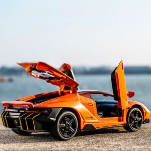 1:32 alloy sports car model die-cast sound and light soundtrack super racing lifting tail wheel childrens toy birthday gift