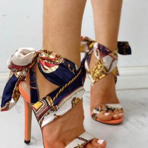 2021 Ribbon Summer Luxury High Heels New Women Pumps Comfort Shoes Sandals Sexy Party Female Peep Toe Gladiator Rome Leisure