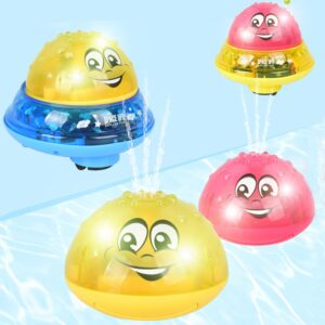 Funny Infant Bath Toys Baby Electric Induction Sprinkler Ball with Light Music Children Water Play Ball Bathing Toys Kids Gifts