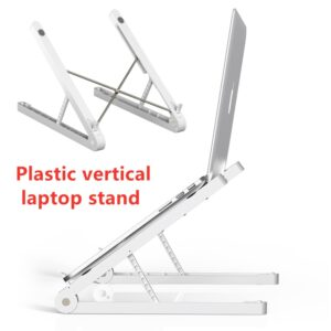Hot Sell Adjustable Foldable Laptop Stand Plastic Vertical Laptop Stand Computer Cooling Holder For MacBook Pro Notebook Laptop