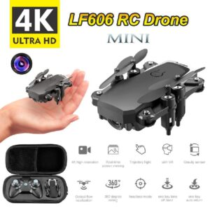 LF606 Mini Drone With 4K Camera HD Optical Flow Positioning GPS FOLLOW WIFI FPV RC Foldable Helicopter Quadrocopter Toy for Boy