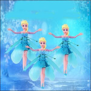 Mini RC Drone Helicopter Infrared Induction Flyings Quadcopter Dolls Fairy Magical Princess Cute LED Light Fly Toy