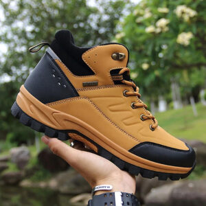 2021 Brand Winter Snow Boots Warm Plush Mens Boots Outdoor Non-slip Hiking Boots Waterproof Mens Ankle Boots Walking Boots