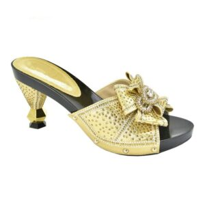 2021 Fashion Design Women Shoes African Women Sandals Shoes Decorated with Rhinestone High Heels Sexy Ladies