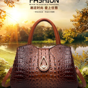 JTS Winter European and American Style Street Fashion Tote Bags Handbags Women Famous Brands Crocodile Pattern Shoulder Bag