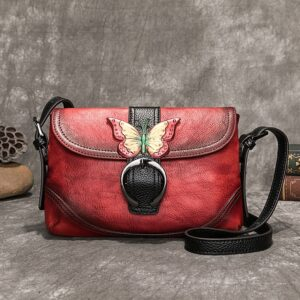 NEW First Layer Cow Leather Women Cross body Bag 2021 Winter Hand Painted Leisure Shoulder Bags Hasp Small Lady Messenger Bag