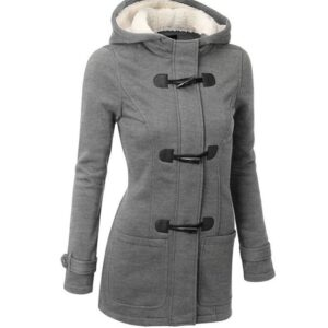 2021 Casual Women Trench Coat Autumn Zipper Hooded Coat Female Long Trench Coat Horn Button Outwear Ladies ToP Pluse Size S-5XL