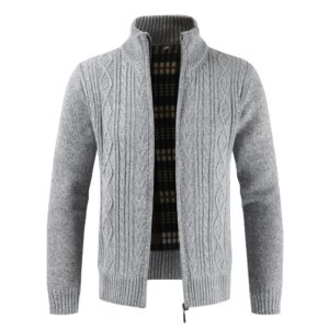 Fashion Autumn Cardigan Men Sweaters Thick Warm Knitted Sweater Mens Jackets Coats Male Clothing Casual Knitwear