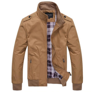 JTS Mens Jackets Spring Autumn Casual Coats Solid Color Mens Sportswear Stand Collar Slim Jackets Male Bomber Jackets 4XL